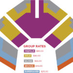 Color-coded priced seating chart