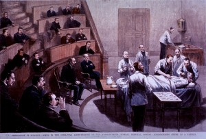 Surgery after the adoption of asepsis circa 1888.