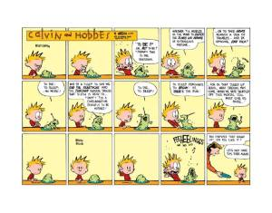 Calvin and Hobbes. All rights reserved.