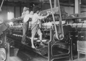 Children in textile factories were frequently scalped, maimed, crushed and killed.