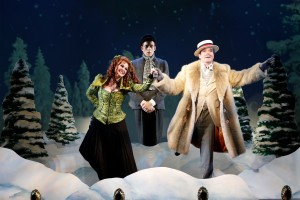 """Heather Ayers, Ken Barnett and Jefferson Mays in """"A Gentleman's Guide to Love and Murder."""" Photo by Joan Marcus."""