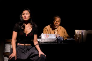 """Teresa Avia Lim, Ray Anthony Thomas in """"Water by the Spoonful"""". Photo by T. Charles Erickson."""