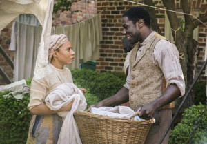 Shalita Grant and McKinley Belcher III in the upcoming PBS series Mercy Street.