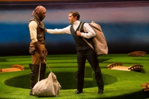 McKinley Belcher III and Joe Paulik in Twelfth Night. Photo by T. Charles Erickson