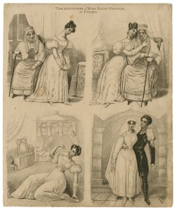 FANNY KEMBLE AS JULIET, WITH THE NURSE, TAKING POISON, AND IN GARRICK'S VERSION OF THE TOMB SCENE, C. 1829
