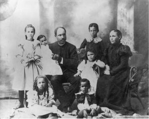 The Delany Family, 1898  (Sadie left, Bessie at her feet)