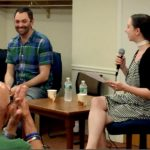Connecticut-born playwright Chris Shinn chats with Artistic Associate Fiona Kyle about his world premiere play, 'An Opening in Time', at the West Hartford Library.
