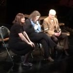 Classical pianist Mona Golabek (left) and Kindertransport survivor/activist Ivan Backer (right) discuss 'The Pianist of Willesden Lane' and the Holocaust with Associate Artistic Director Elizabeth Williamson.