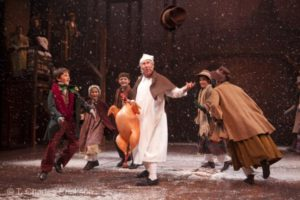 Bill Raymond and the Children of A Christmas Carol. Photo by T. Charles Erickson.