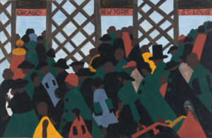 ONE WAY TICKET FROM JACOB LAWRENCE'S MIGRATION SERIES 1941