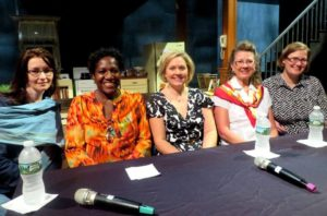 (Left to Right) T.D. Mitchell, Army veterans Bridgitte Prince and Jill Klepacki O'Connor, Marine Corps veteran Jamie DePaola, and moderator Lynette Adams, Ph.D.