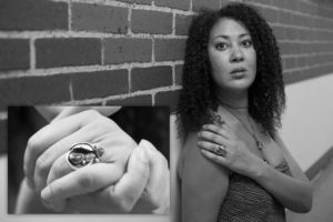 Director Jade King Carroll and her Grandmother's Ring. Photo credit:  Nick Cinea, Humans of Hartford
