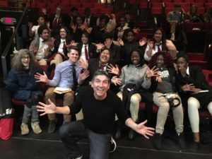 James Lecesne with a Student Matinee audience.