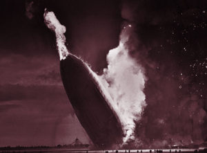The Zeppelins would explode in a fireball similar to the 1937 Hindenburg distaster.