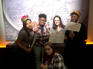 Amara McNeil (2nd from left) and other Teen Council member.