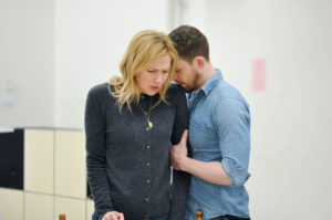 Actors Beth Riesgraf and Zach Appelman in rehearsal. Photo by Liss Couch-Edwards.