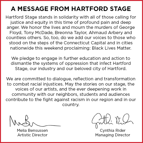 A Message from Hartford Stage